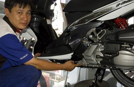 Sửa xe máy Suzuki Hayate